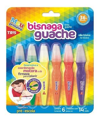 Tinta Guache Bisnaga 6 Cores 14ml Tris