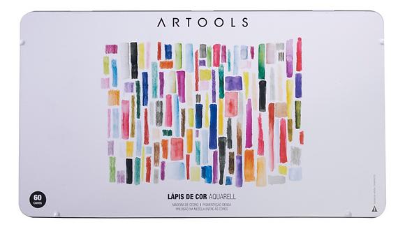 Lápis Aquarelável Artools Aquarell – Estojo Metálico com 60 cores