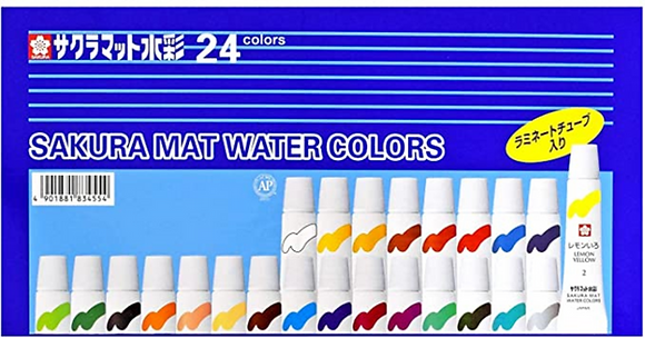 Aquarela Mat Water Colors Sakura com 24 cores