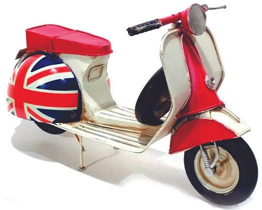 Motocicleta Reino Unido Decorativa de Metal  30x15,5cm La Verne