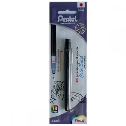 Refil Caneta pincel Color Brush preto Pentel
