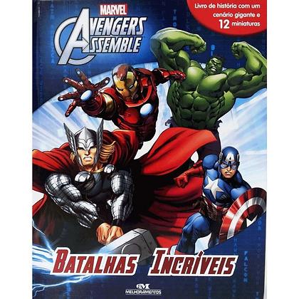 Livro Com Miniaturas Avengers : Batalhas Incríveis