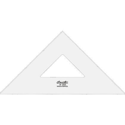 Esquadro Acrílico Trident 32cm