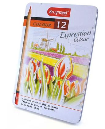 Lápis De Cor Expression Colour Estojo Com 12 Cores Bruynzeel