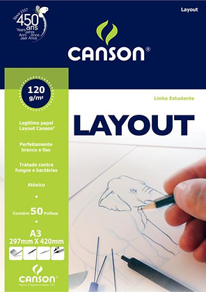 Bloco layout A3 120g 50fls Canson