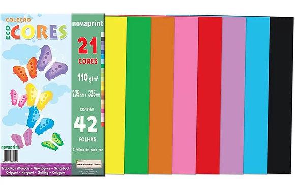 Bloco Ecocores 110g 235x325mm c/21 cores 42fls