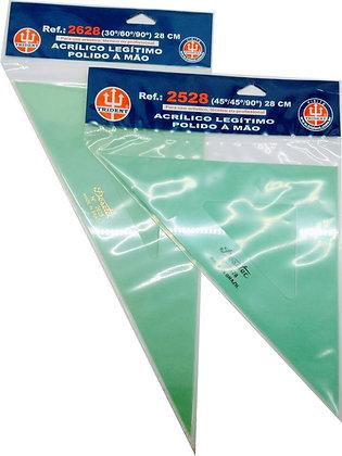 Esquadro Acrílico Trident 28cm