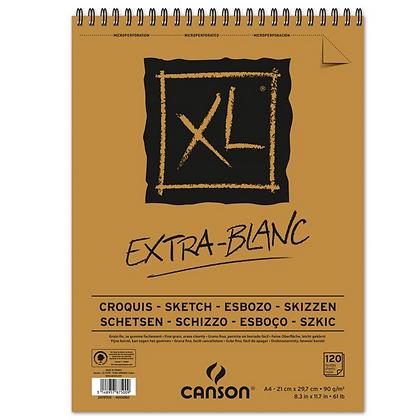 Bloco Espiralado Canson XL® Extra Blanc 90g/m² A4 21 x 29,7 cm com 120 Folhas