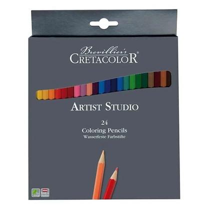 Lápis De Cor Aquarelável Artist Studio Estojo 24 Cores Cretacolor