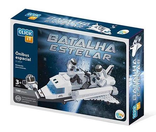 Brinquedo Blocos De Montar Ônibus Espacial Cis 180pcs