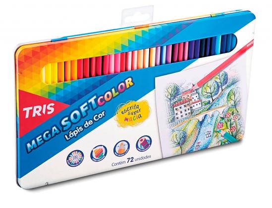 Lápis De Cor TRIS Mega Soft Color 72 Cores