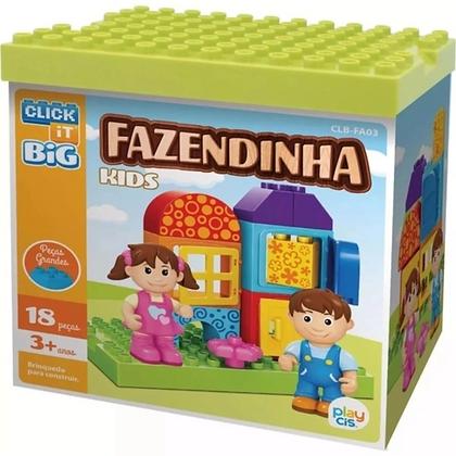 Blocos De Montar Big Fazendinha Kids 18 PeçasCis