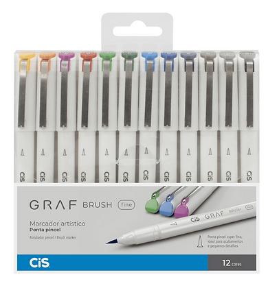 Marcador Artistico Graf Brush Fine 6 Cores Cis