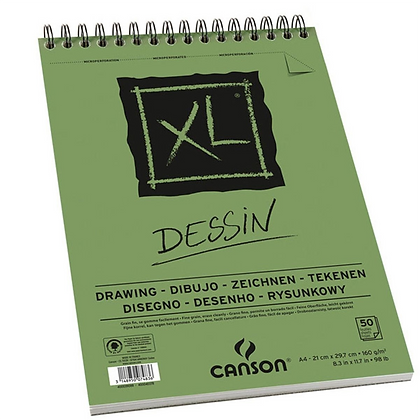 Bloco Espiralado Canson XL® Dessin 160g/m² A4 21 x 29,7 cm com 50 Folhas