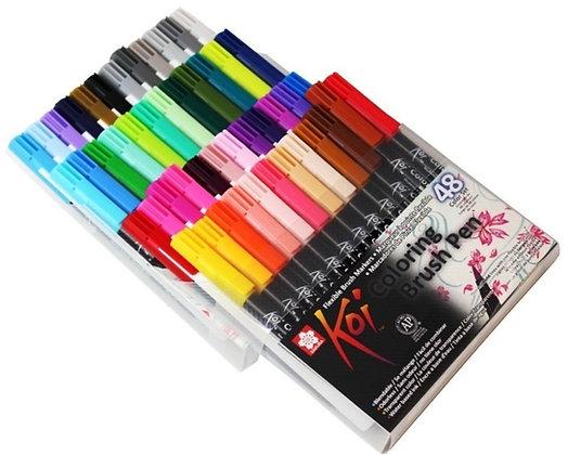 Caneta Sakura Koi Coloring Brush Pen 48 cores - XBR-48
