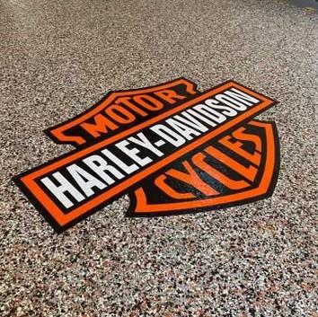 Custom Harley Davidson Flake