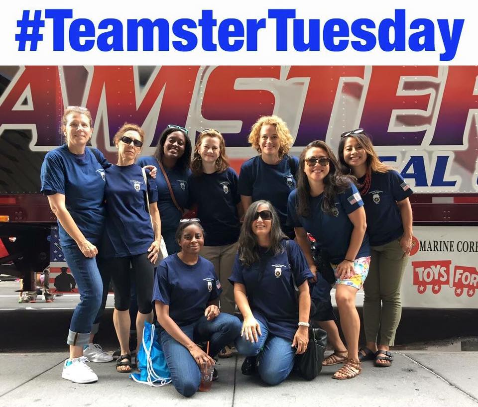 Local 817 some of our sisters on teamster tuesdays