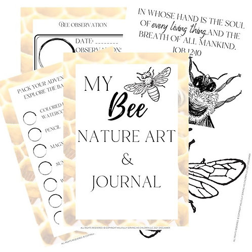 Bee Nature Art and Journal