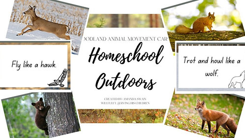 Woodland Animal Movement Cards