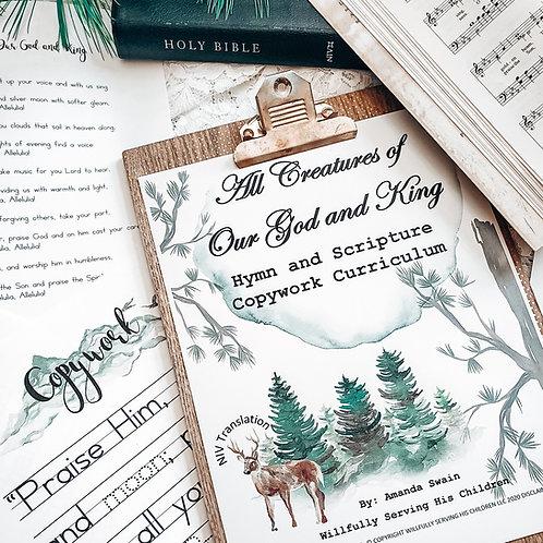 Bible Verses for Kids, Handwriting for Kids, Handwriting Kids, Hymn Study