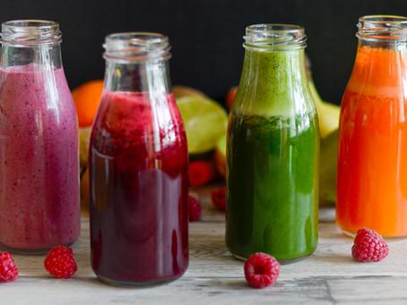 Detoxikační šťáva a smoothie