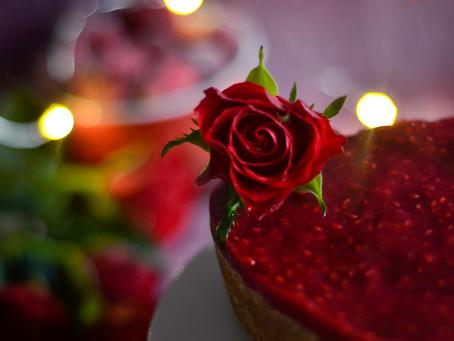 Valentýnský kokosový dort