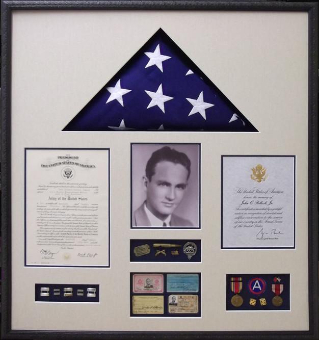 Custom Framing Military Medals