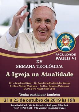 Faculdade Paulo VI realiza a XV SEMANA TEOLÓGICA entre os dias 21 a 25 de outubro