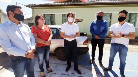 ESTÂNCIA: Deputados André e Marcio visitam obras na EMEF Mestra Henriqueta