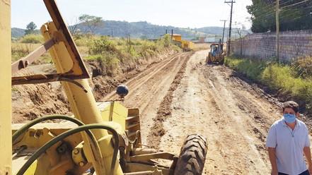 BIRITIBA MIRIM: Obras de recuperação da Estrada de Santa Catarina