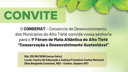 Condemat promove 1º Fórum de Mata Atlântica do Alto Tietê