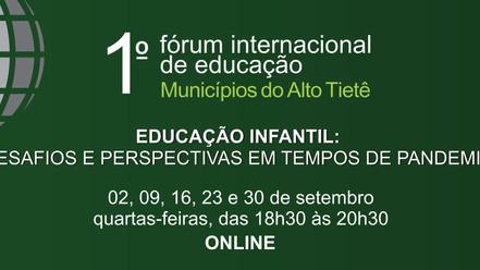 1º Fórum Internacional de Educação do Alto Tietê começa na quarta-feira