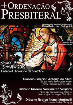Diocese de Mogi das Cruzes (SP) celebra a ordenação de mais três sacerdotes neste sábado, dia 15