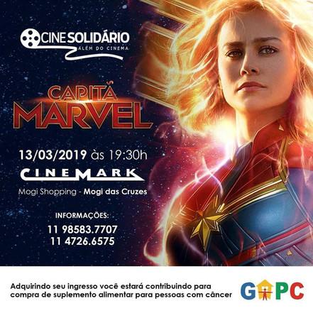 GAPC Mogi das Cruzes promove Cine Solidário com filme Capitã Marvel