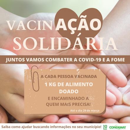 """Região terá campanha de """"Vacinação Solidária"""""""