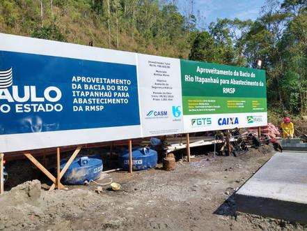 BIRITIBA MIRIM: Iniciadas obras de transposição do Rio Itapanhaú