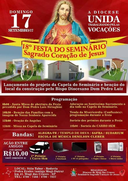 Festa do Seminário Diocesano de Mogi das Cruzes acontece no dia 17 de setembro