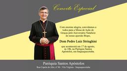 Diocese celebra aniversário natalício de Dom Pedro Luiz Stringhini