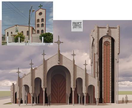 BIRITIBA MIRIM: Lançado o projeto da nova Igreja Matriz de Santa Luzia