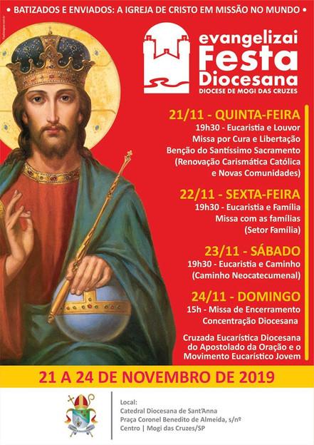 EVANGELIZAI – FESTA DIOCESANA começa nesta quinta-feira, dia 21