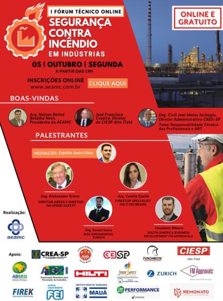 CIESP Alto Tietê participa doFórum Técnico de Segurança contra Incêndio em Indústrias