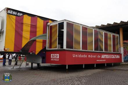 Biritiba Mirim recebe unidade móvel de artes e cultura do SESI-SP