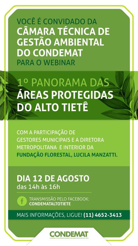 CONDEMAT: Webinar apresenta o panorama das áreas protegidas na região