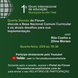 No penúltimo encontro, Fórum  de Educação debate a Base Comum Curricular
