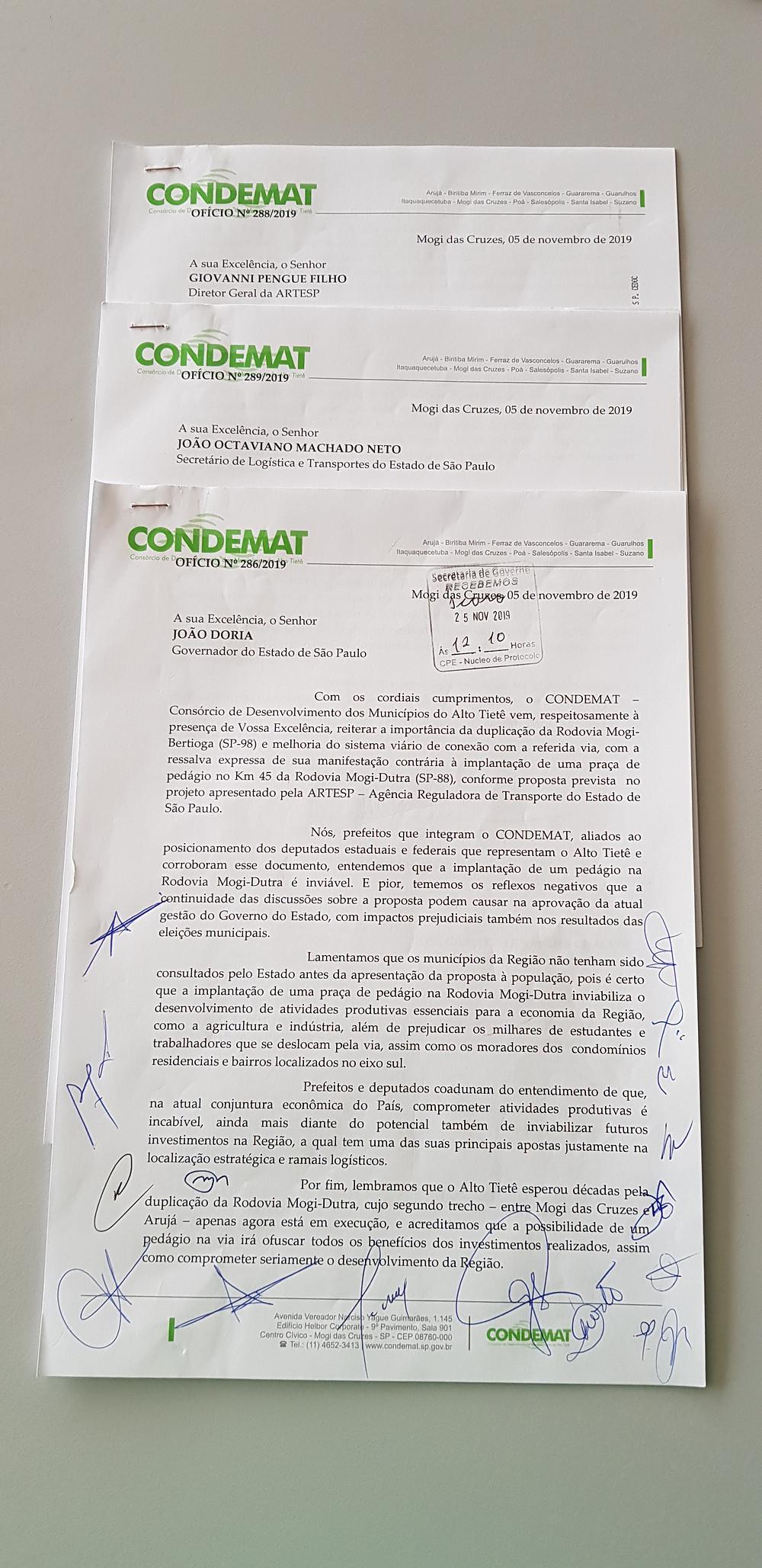 Documento do CONDEMAT tem a adesão dos prefeitos das 12 cidades consorciadas e de seis deputados estaduais e federais