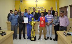 BIRITIBA MIRIM: Time do Atlético Nova Biritiba é homenageado na Câmara Municipal