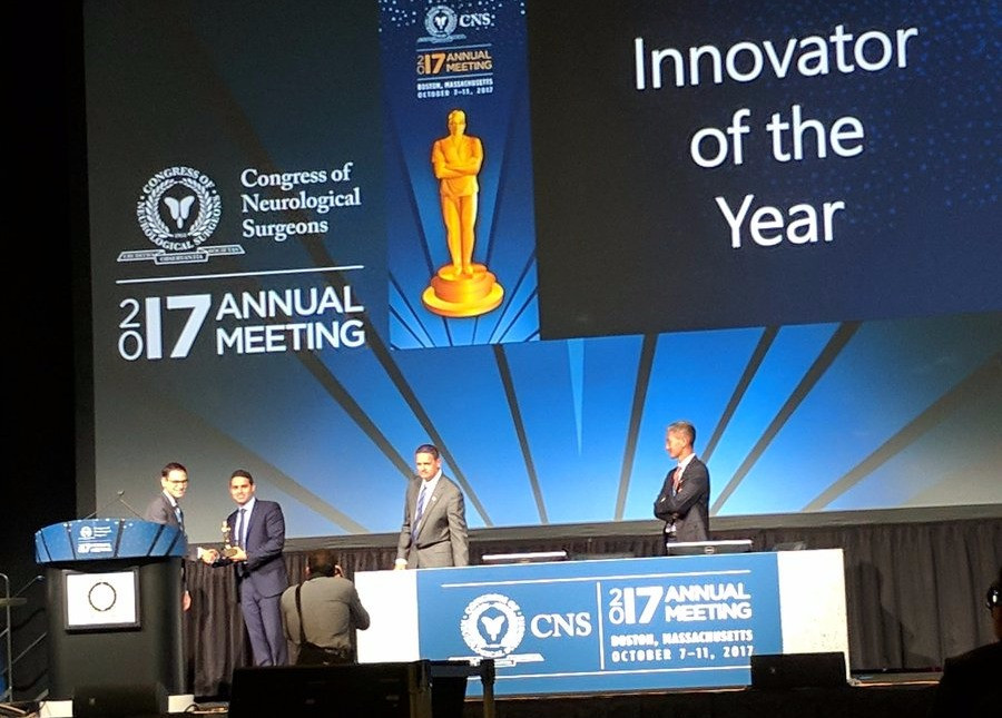 Dr. Orringer at Michigan Medicine was named Innovator of the Year by the Congress of Neurological Su