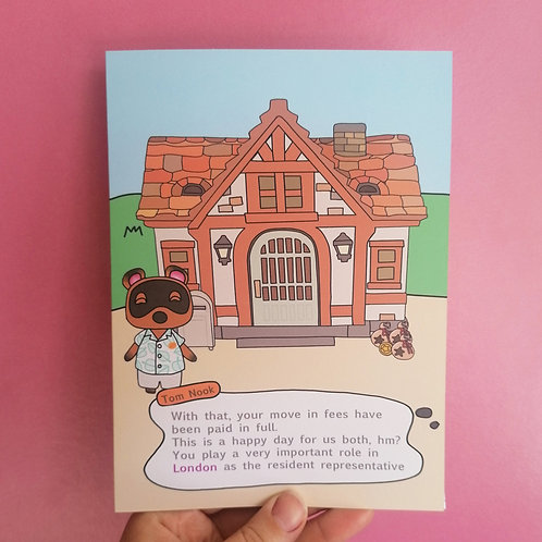 Personalised Animal Crossing New Home Card