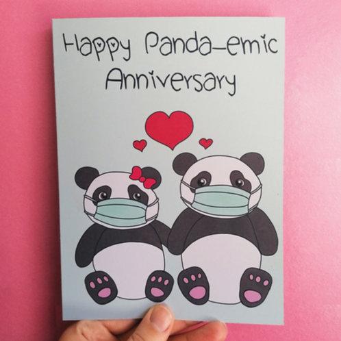 Panda Pandemic Anniversary Card