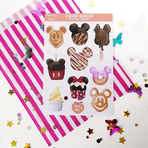 Disney Snack Sticker Sheet